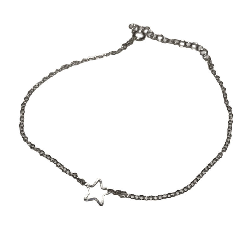 Beth jewelry delicate tiny star anklet, adjustable