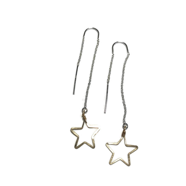 Medium Star Threader Earrings