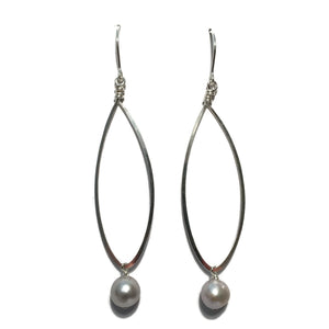 Beth Jewelry, handmade long teardrop earrings with beads