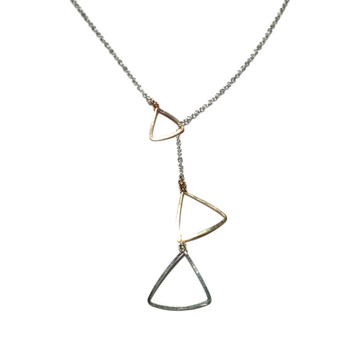 Sliding Triangles Necklace