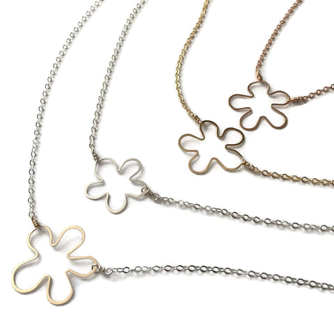 Beth Jewelry, handmade small flower necklaces