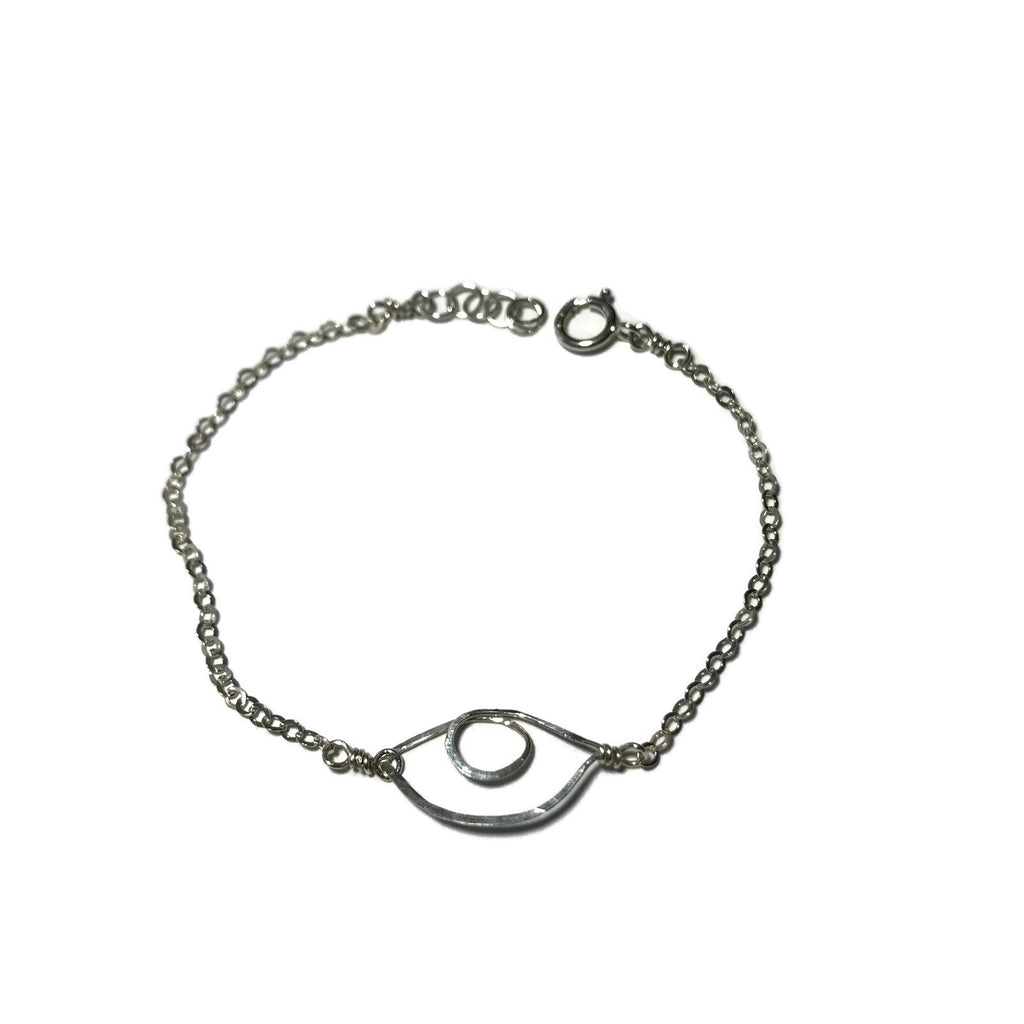 Beth Jewelry, handmade tiny evil eye bracelet