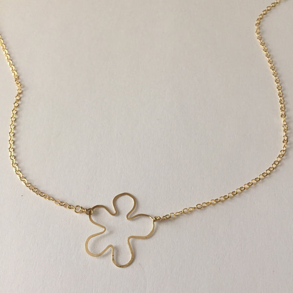 Beth Jewelry by Beth Kukuk, handmade gold-filled tiny flower necklace