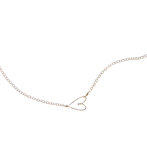 Tiny Heart Necklace, gold-filled - Beth Jewelry