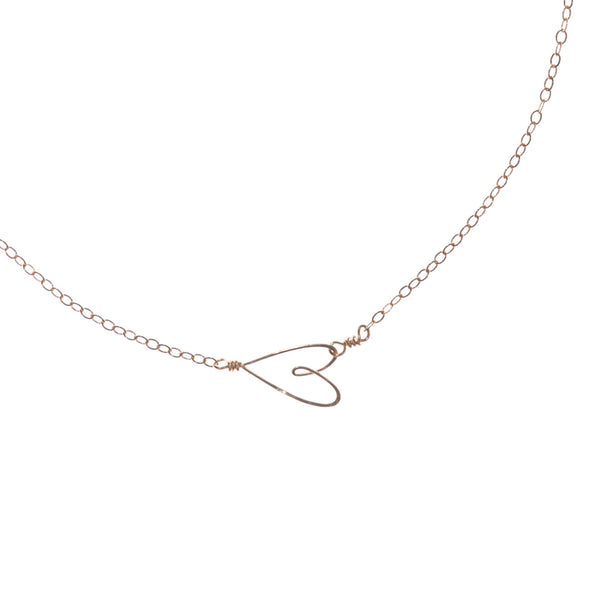 Tiny Heart Necklace, rose gold - Beth Jewelry