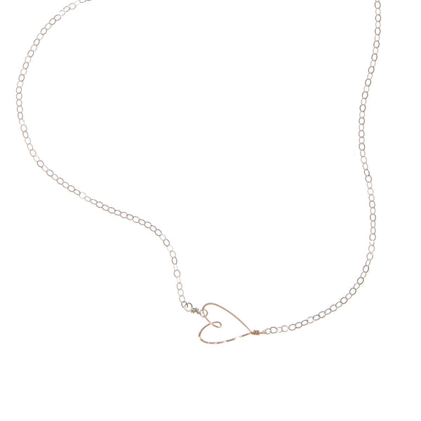 Tiny Heart Necklace, sterling silver & gold-filled - Beth Jewelry