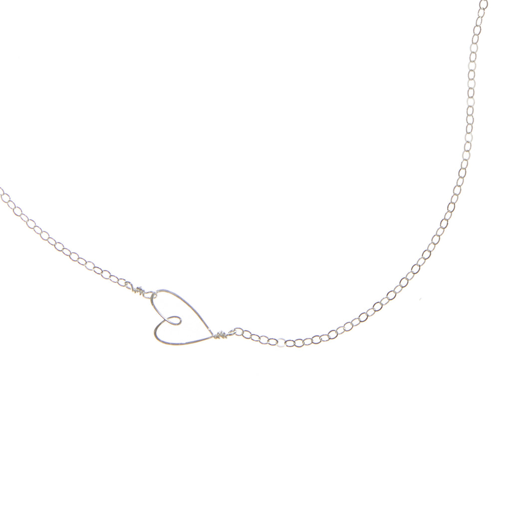 Tiny Heart Necklace, sterling silver - Beth Jewelry