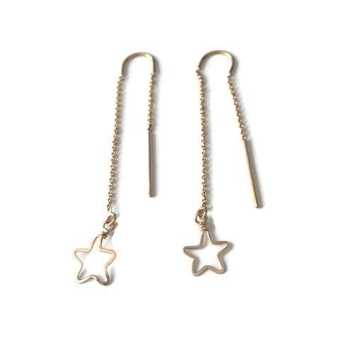 Tiny Star Threader Earrings