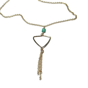Beth Jewelry, handmade turquoise triangle chain necklace