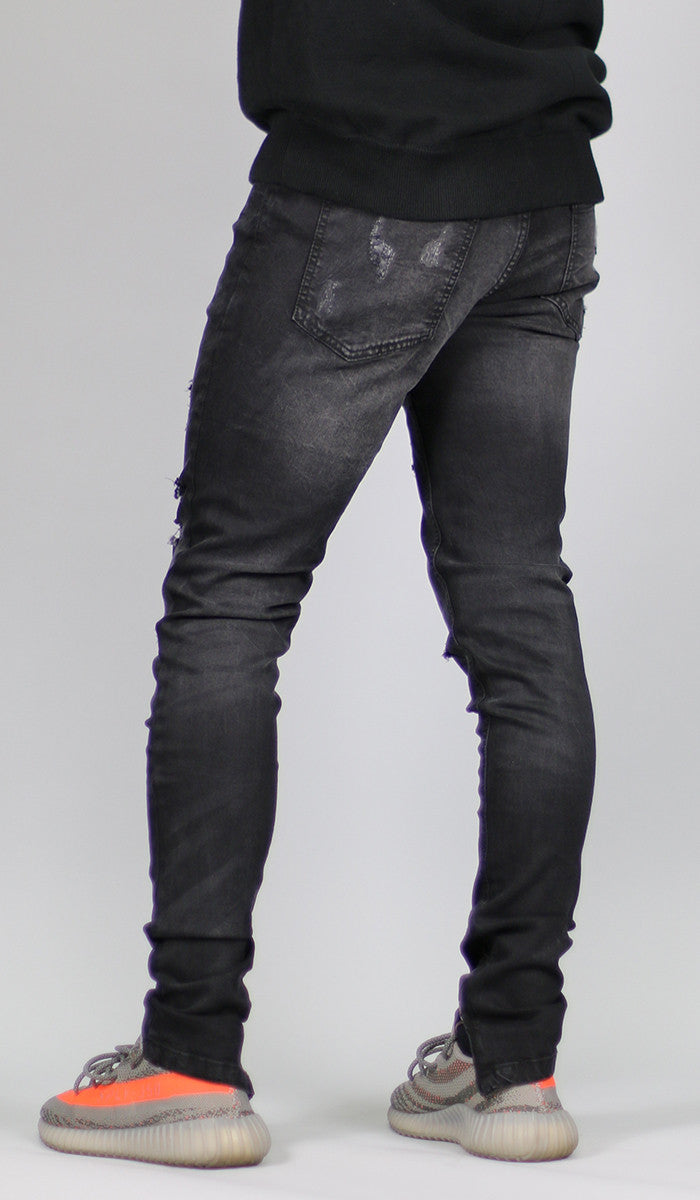 Black Gao Zipper Jean