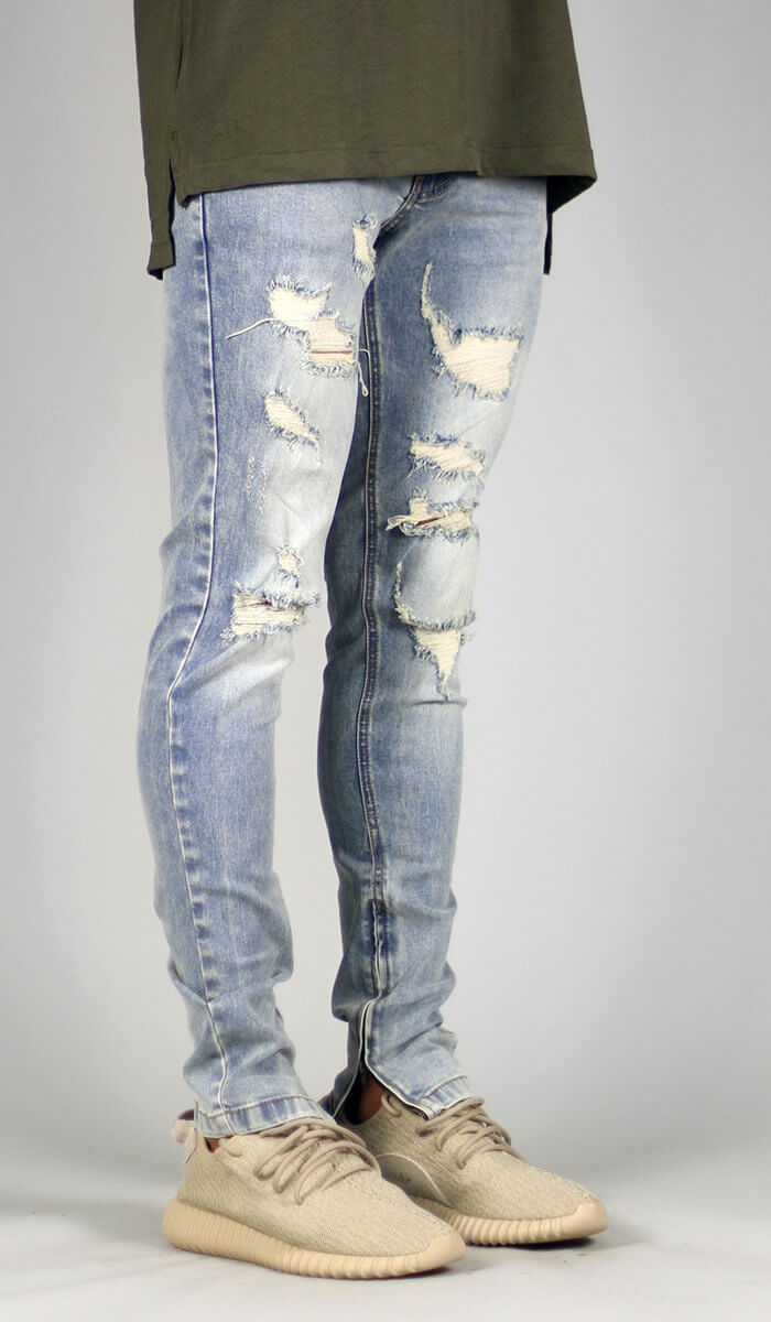 LT.Blue Gao Zipper Jean