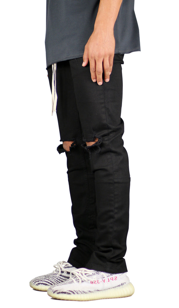 Black Nate Zipper Pant