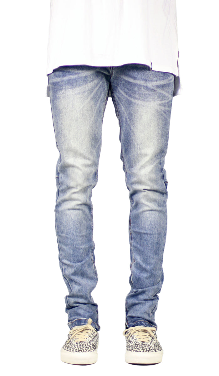 M.Blue Stack Zipper Jean