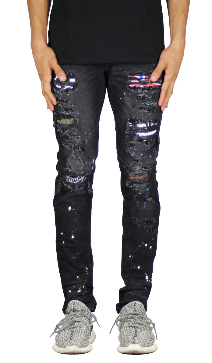 Black Patch Jean