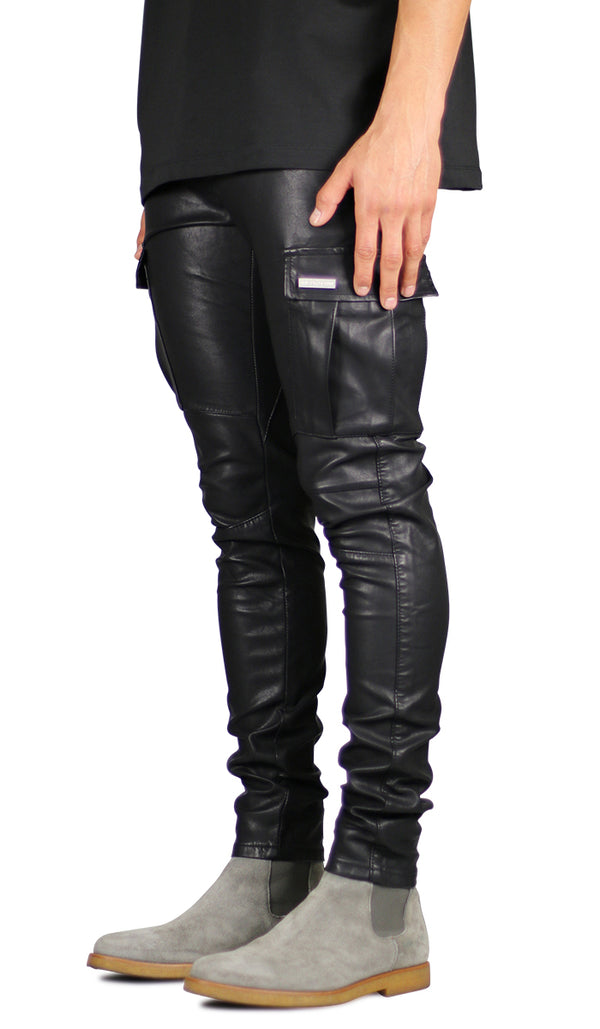 Leather Cargo Pant