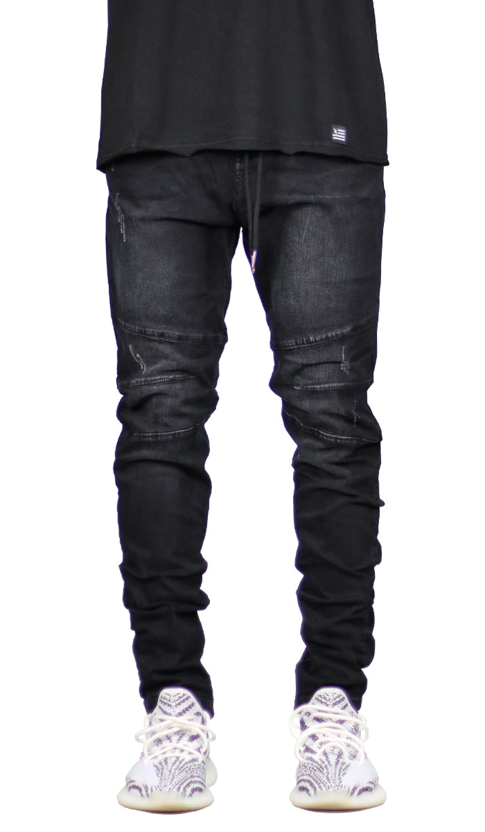Black Gnu Zipper Jean