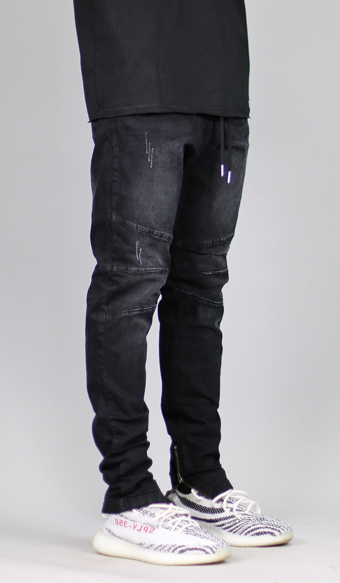 302fe8648da Black Gnu Zipper Jean
