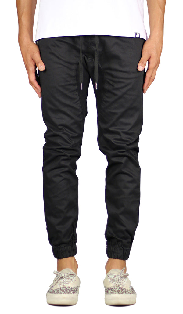 Black  Drop Crotch Jogger