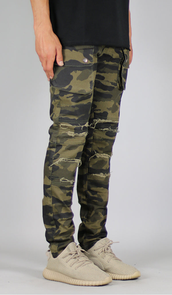 Olive Camo Cargo Pant