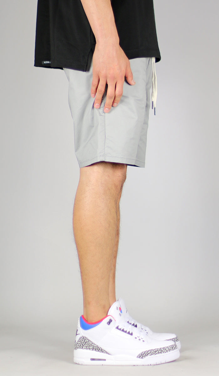Gray Drop Crotch Short