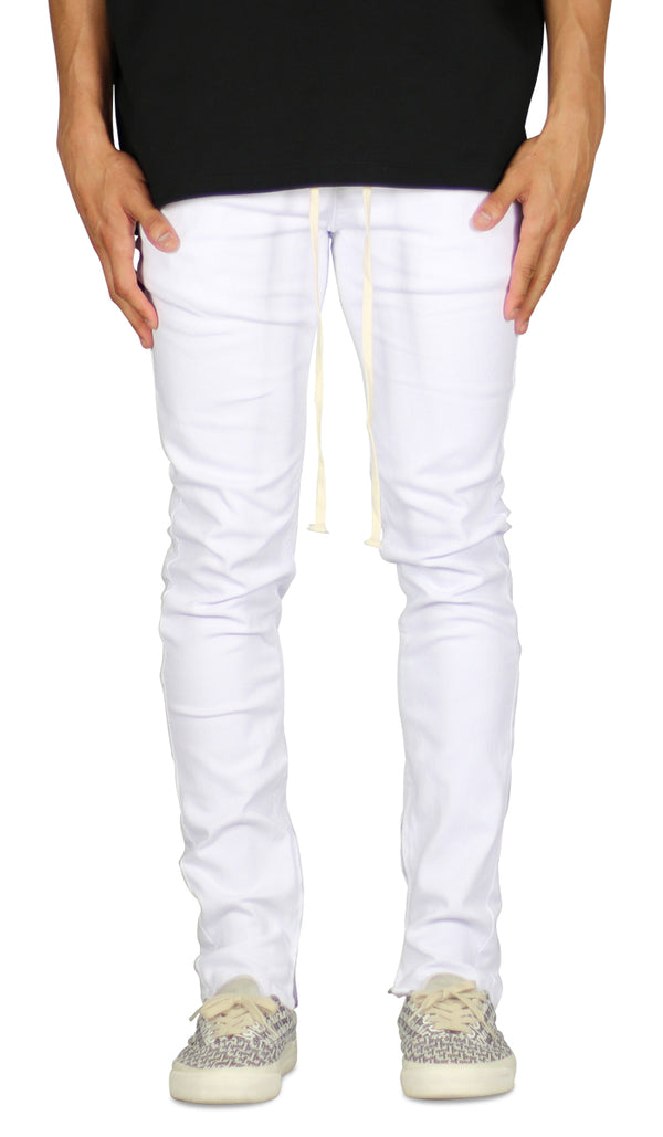 White Zipper Pant