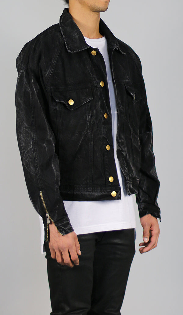 Thunder Black Denim Jacket