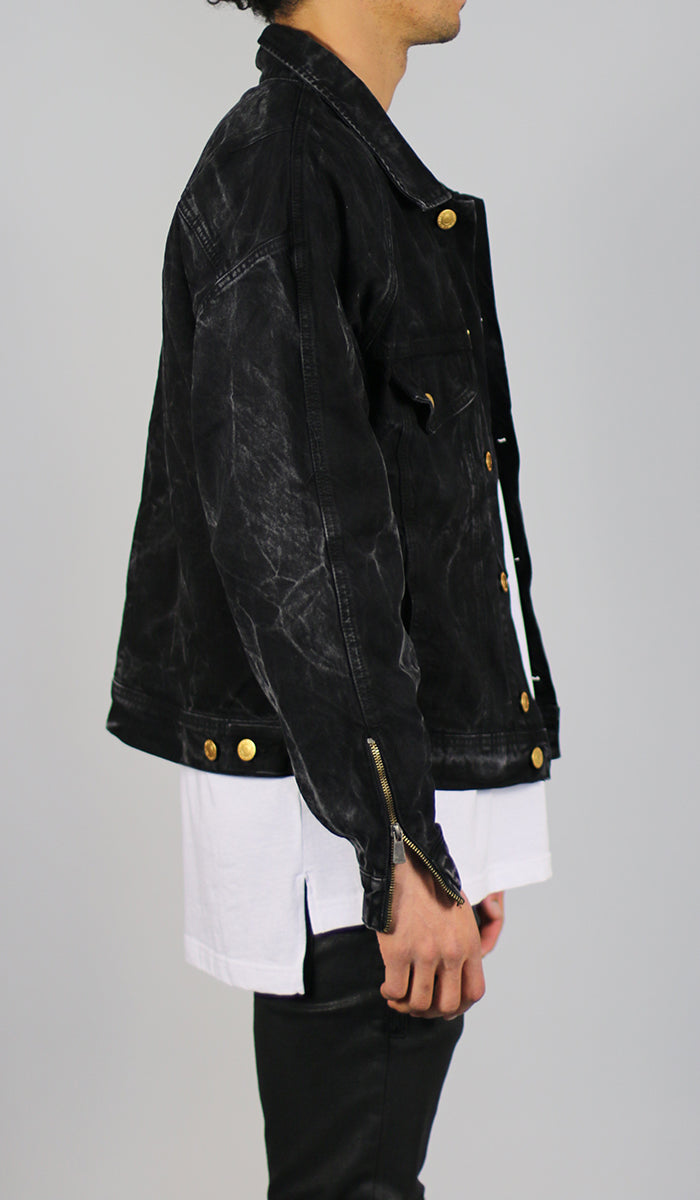 a377b33ec27d6 Thunder Black Denim Jacket - HYPER DENIM