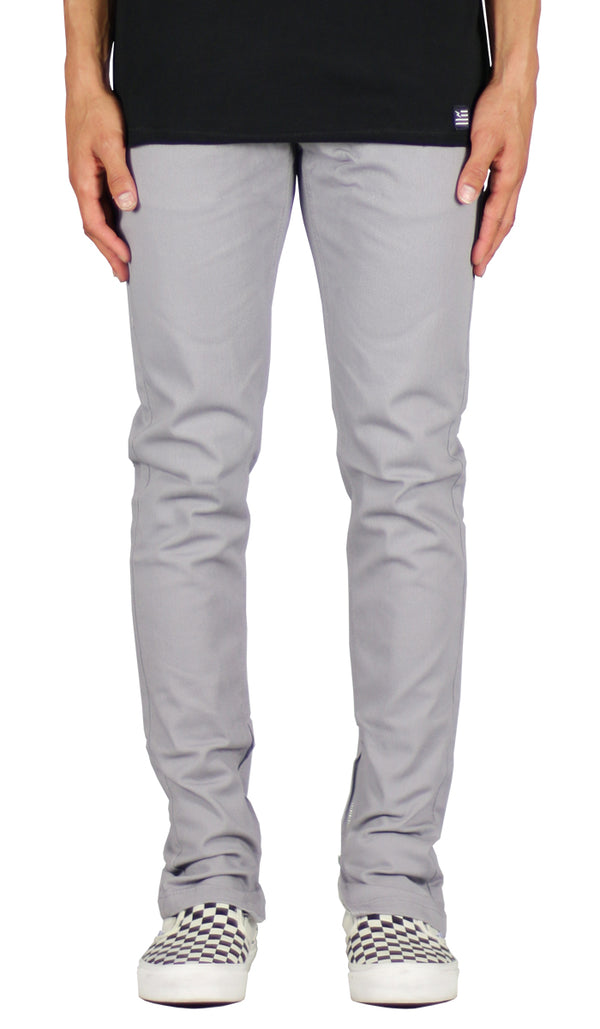 Gray Zipper Pant