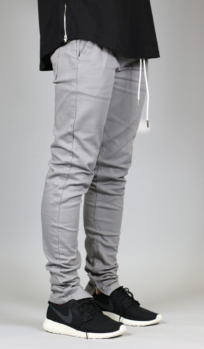 d67078fb7a2 Gray Zipper Pant - HYPER DENIM