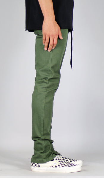 Olive Zipper Pants