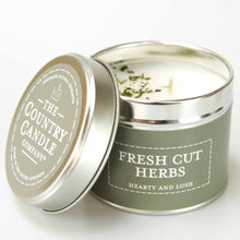 Load image into Gallery viewer, New! 'Fresh Cut Herbs' Hearty & Lush Fragranced Vegan Candle (GMO & Palm Oil Free)