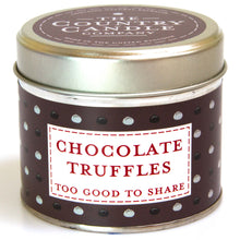 Load image into Gallery viewer, New! 'Chocolate Truffles' Too Good To Share Fragranced Vegan Candle (GMO & Palm Oil Free)