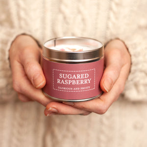 New 'Sugared Raspberry' Glorious & Fruity Fragranced Petals Vegan Candle (GMO & Palm Oil Free)