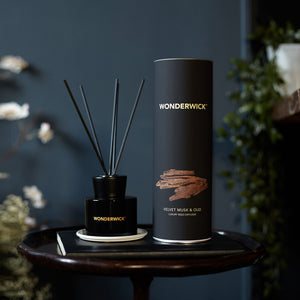 New! Velvet Musk & Oud Luxury Wonderwick Reed Diffuser Vegan Candle (GMO & Palm Oil Free)