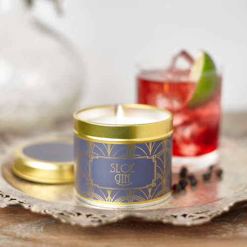 New! 'Sloe Gin' Fragranced Vegan Candle Tart Sloe Berries Mix With Cherry & Orange (GMO & Palm Oil Free)