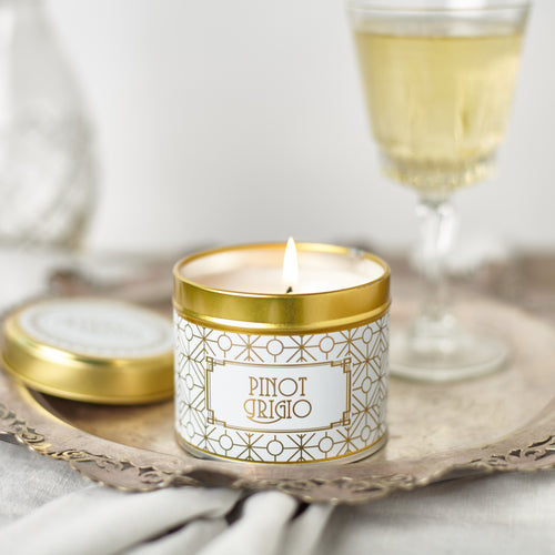 New! 'Pinot Grigio' Fragranced Vegan Candle (GMO & Palm Oil Free)