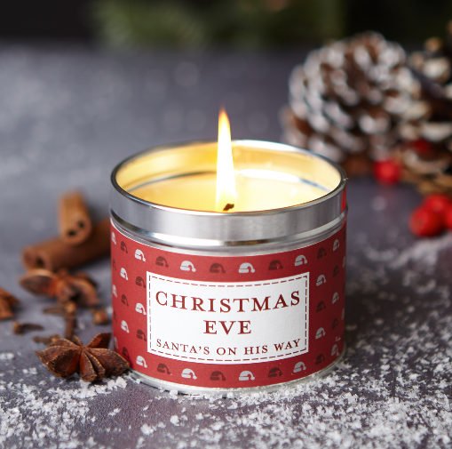 New! 'Christmas Eve' Santa's On His Way Fragranced Vegan Candle (GMO & Palm Oil Free)
