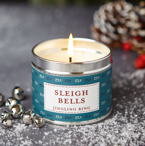 New! 'Sleigh Bells' Jingling Ring Fragranced Vegan Candle (GMO & Palm Oil Free)