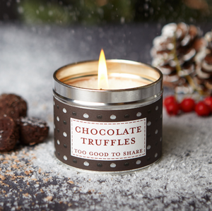New! 'Chocolate Truffles' Too Good To Share Fragranced Vegan Candle (GMO & Palm Oil Free)
