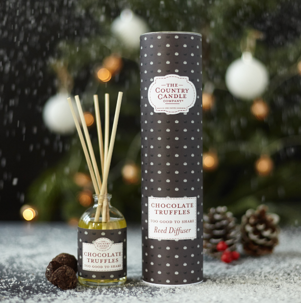 New! 'Chocolate Truffles' To Good To Share Reed Diffuser Vegan Candle (GMO & Palm Oil Free)