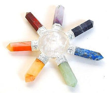 Load image into Gallery viewer, Clear Quartz & Seven Different Chakra Crystal Hand Made Powerful Energy Generator - Krystal Gifts UK