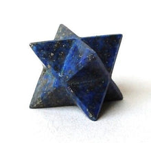 Load image into Gallery viewer, Lapis Lazuli Hand Carved Crystal Merkaba Star - Krystal Gifts UK