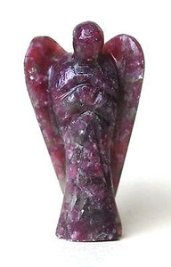 Lepidolite Hand Carved Angel Crystal - Krystal Gifts UK