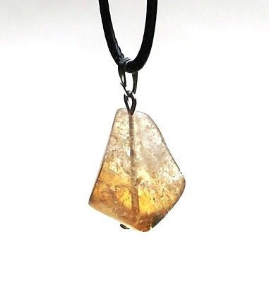 Raw Citrine Crystal Pendant - Krystal Gifts UK