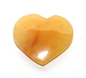 Yellow Jade Crystal Heart - Krystal Gifts UK