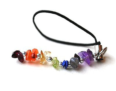 Chakra Crystals Mobile  / Bag / Purse / Keyring Charm Gift Wrapped - Krystal Gifts UK