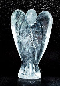 Clear Quartz Hand Carved Crystal Angel - Krystal Gifts UK