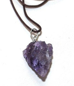 Amethyst Raw Crystal Arrowhead Pendant Gift Wrapped - Krystal Gifts UK