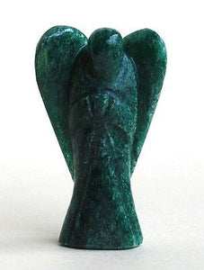 Green Aventurine Hand Carved Crystal Angel - Krystal Gifts UK
