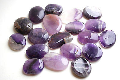 Amethyst Crystal Palm Stone - Krystal Gifts UK